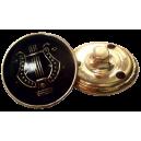 Bouton Lyre OR sur fond NOIR, 21mm