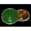 Bouton Lyre OR sur fond VERT, 21mm